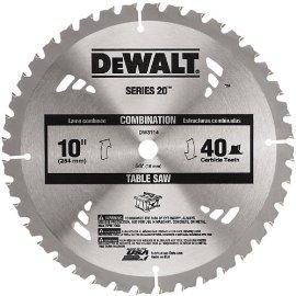DEWALT DW3114 Series 20 10 40T Thin Kerf Table Saw Blade