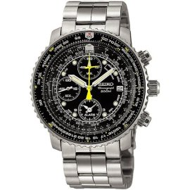 Seiko Men's Flight Alarm Chronograph Watch #SNA411