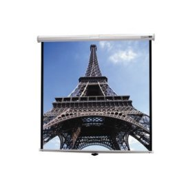 Da-Lite 92 Diagonal HDTV Format Home Theater Tensioned Manual Wall Screen with High Contrast Matte White Fabric