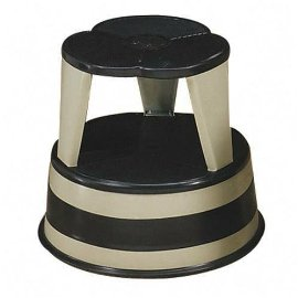 Kik-Step Step Stool with Safety Casters, 500 Pound Capacity, Beige CRA100119