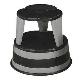 Kik-Step Step Stool with Safety Casters, 500 Pound Capacity, Gray CRA100182