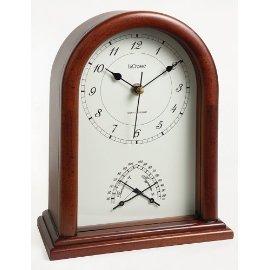 La Crosse Technology 801-396 Atomic Beehive Styled Shelf Clock - Cherry