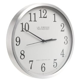 La Crosse Technology WT-3126B Radio Controlled Aluminum Analog Wall Clock