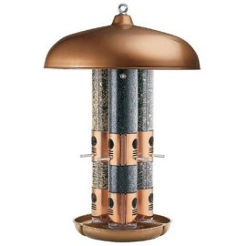 Opus Top Flight Triple Tube Bird Feeder (Copper) # 7103