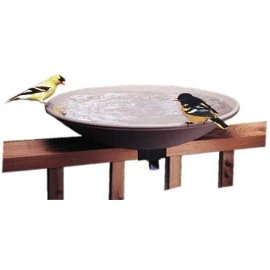 API 645 Bird Bath Bowl with Tilt-to-Clean Deck Rail Mounting Bracket - Light stone color