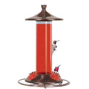 Birdscapes® 710 Brushed Metal Hummingbird Feeder, 12 oz capacity
