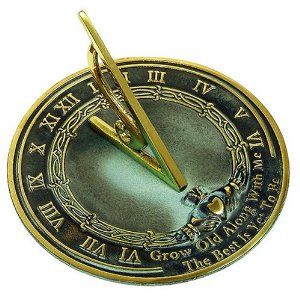 Rome RM2308 Brass Sundial Grow Old With Me