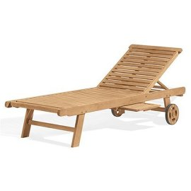 Oxford Garden Designs Chaise Lounge - Natural