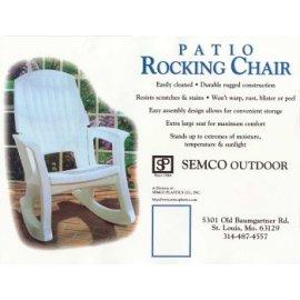 Patio Resin Rocking Chair