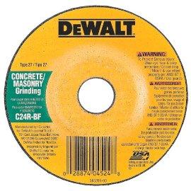 DEWALT DW4524 4-1/2 X 1/4 X 7/8 Concrete/Masonry Grinding Wheel