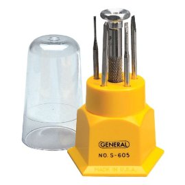 General Tools S605 Jewelers Screwdriver Set