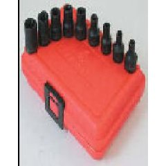 Sunex 3670SE 9 Pc. External Torx Socket Set - E3 thru E16