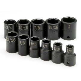 Sk 4031 11 Piece 1/2 Drive, 6 Point Standard Fractional Impact Socket Set