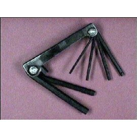 6-In-1 Large Metric Fold-Up Hex Key Set