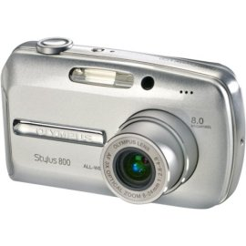 Olympus Stylus 800 8MP Digital Camera with 3x Optical Zoom