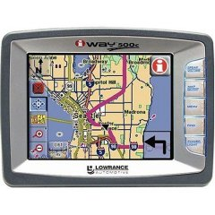 Lowrance iWay 500C In-Car GPS Navigation System with MP3 Player - Silver