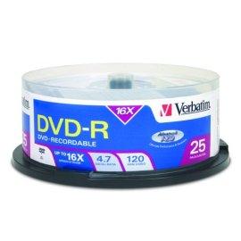 Verbatim 16x DVD-R 4.7 GB Discs