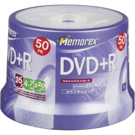 Memorex DVD+R 16x 4.7GB 50 Pack Spindle