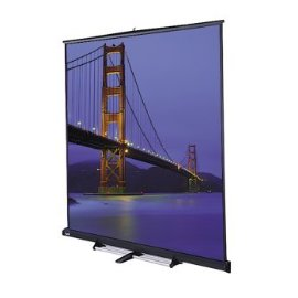 Da-Lite Floor Mounted Manual 10' x 10' Square Format Rental Screen with Matte White Fabric