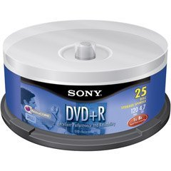 Sony DPR-47/25 Write-once DVD+r Disc - Spindle