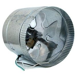 8-Inch 110VAC 800CFM In-Line Duct Booster Fan