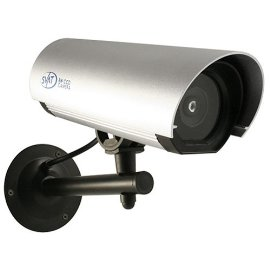 Outdoor Imitation Dummy Security Camera with Flashing LED & Waterproof Steel Housing