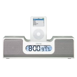 iHome iH5 Clock Radio for iPod - White