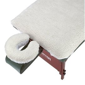Master Massage Fleece Pad for Massage Table with Matching Fleece Crescent Cover for Face Cradle