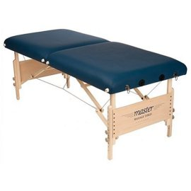 "Master Massage Coronado Portable Massage Table, 30"" Width, Adjustable Face Cradle and Maple Finish Auto-Lock Legs"
