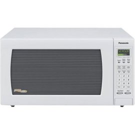 Panasonic NN-H765WF Inverter Full-Size Countertop Microwave (1.6 cu.ft. 1250W, White)