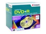 Verbatim DVD+R 4.7GB LightScribe 20pk Slim Case - Gold