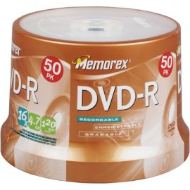 Memorex DVD-R 16x 4.7GB 50 Pack Spindle