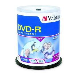 Verbatim 100PK DVD-R 4.7GB 16X ( 95102 )