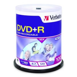 Verbatim 100PK DVD+R 4.7GB 16X ( 95098 )