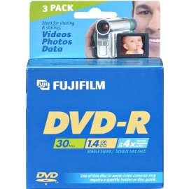 FUJIFILM DVD-R (8cm) x 3 - 1.4 GB - storage media ( 25302443 )