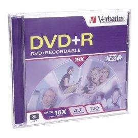 Verbatim DVD R, 4x, 4.7gb In Jewel Case
