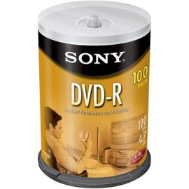 Sony 100PK DVD-R 4.7GB 8X-SPINDLE ( 100DMR47LS3 )