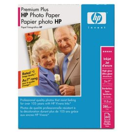 60-SHEET 5X7 HP PREM PLUS PHOTO ( Q6566A )