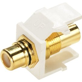 Leviton R0240830W Gold Plated Solderless Rca Speaker Jacks In White