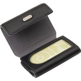 Ipod Black Leather Foldover Case