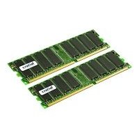 Crucial Dual Channel 2048MB PC3200 DDR 400MHz Memory (2 x 1024MB)