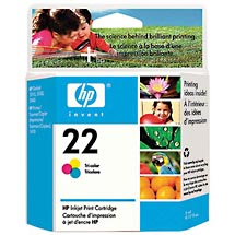 HP 22 Tri-color Inkjet Print Cartridge (C9352AN)