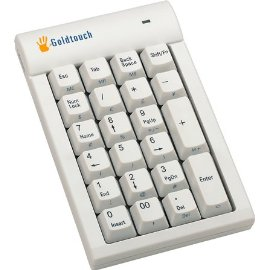 Goldtouch USB Numeric Keypad Hub - Keypad - 23 keys - USB - white