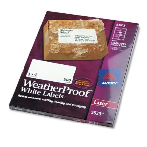 Avery(R) Weatherproof Laser Labels, Shipping, 2in. x 4in., White, Box Of 500