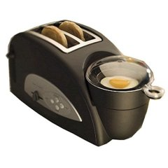 Back to Basics TEM500 Egg & Muffin 2-Slice Toaster and Egg Poacher - Black