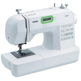 Brother ES2000 77 Stitch Function Computerized Free Arm Sewing Machine - White