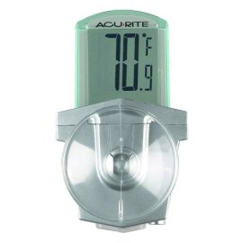 Chaney Instrument Outdoor LCD Window Thermometer - White