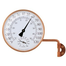Conant Custom Brass Model TH-6c Vermont Copper Weather Station - antique copper