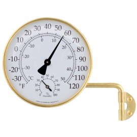 Conant Custom Brass Model TH-6 Vermont Natural Brass Weather Station