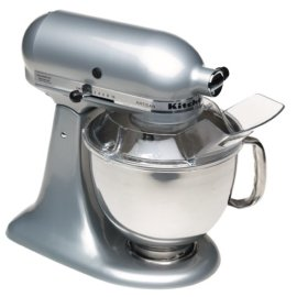 KitchenAid KSM150PSMC Artisan Series 5-Quart Mixer (Metallic Chrome)